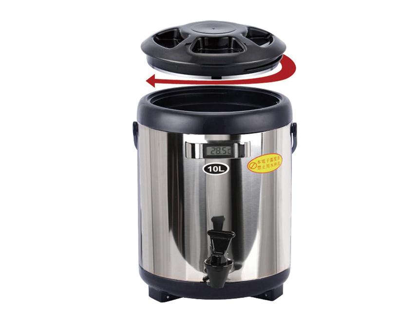 Bình ủ trà giữ nhiệt Inox có đồng hồ 8L 7